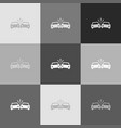 crashed cars sign grayscale version of vector image vector image