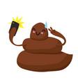cute kawaii poop taking selfie with mobile phone vector image