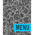 Design background doodle of pizza with ingredients vector image vector image