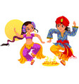 diwali and brother with sister on bhai dooj day vector image