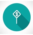 Dollar symbol on a traffic sign vector image vector image