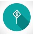Dollar symbol on a traffic sign vector image