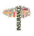 flood insurance could save you thousands text vector image vector image