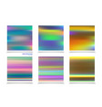 fluid colors backgrounds set holographic effect vector image vector image