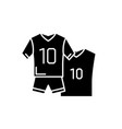 football clothes black icon sign on vector image vector image