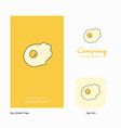 fry egg company logo app icon and splash page vector image vector image