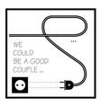 funny print socket and plug vector image vector image