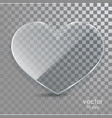 glass heart on a transparent background vector image vector image