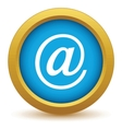 Gold email icon vector image