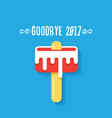 goodbye 2017 concept vector image