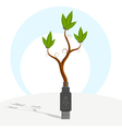 green usb plant vector image vector image