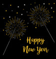 happy new year bengal light set christmas vector image
