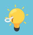 isometric key unlock light bulb idea vector image vector image