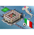 Isometric Stadium San Siro Milan Italy vector image