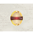 label with grunge background vector image vector image
