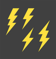 Lightning symbols set vector image vector image