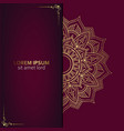 luxury ornamental mandala background with arabic vector image vector image