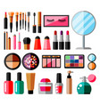 makeup collection set decorative cosmetics vector image vector image
