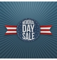 Memorial Day Sale realistic Sign and Ribbon vector image vector image