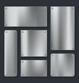 metal plates steel plate stainless panel chrome vector image vector image