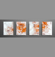 mixture of acrylic paints liquid marble texture vector image vector image