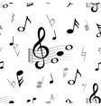 music note seamless abstract musical note treble vector image