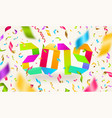 new year 2019 vector image vector image