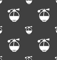 Perfume icon sign Seamless pattern on a gray vector image vector image