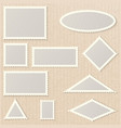 postage stamps of various shapes and sizes vector image