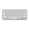 realistic desktop keyboard mockup 3d black vector image vector image