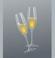 realistic glasses champagne isolated on a vector image vector image
