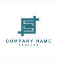s sb qb initials geometric company logo vector image vector image