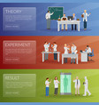 scientist banners set vector image vector image
