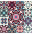 seamless patchwork background from colorful vector image vector image