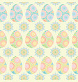 seamless pattern of colorful eggs and circle vector image
