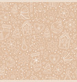 seamless pattern with gingerbread cookies vector image vector image