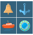 Set of Marine Icons vector image vector image