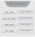 set of web buttons menu interface icons for vector image