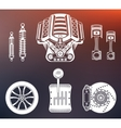 Set Parts of Car vector image vector image