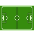 Soccer field or football pitch vector image vector image