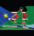 soccer team player in uniform with state national vector image vector image