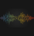 sound wave audio waveform background equalizer vector image