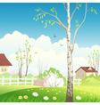 Spring village vector image vector image