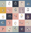 square floral random girly seamless graphic swatch vector image