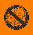 stop viruses and microbes sign vector image