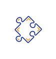 strategy line icon puzzle symbol logical vector image