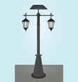 street lamp with solar panel vector image