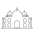 taj mahal isolated icon vector image vector image