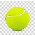 tennis ball on transparent background vector image