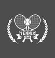 tennis sports logo label emblem design elements vector image vector image